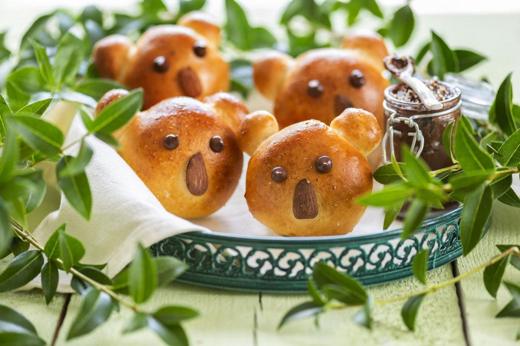 Koala ontbijtbroodjes